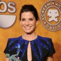 Sandra Bullock smiles with her award for Outstanding Female Actor in a Leading Role for &#8216;The Blind Side&#8217; at the 16th Annual Screen Actors Guild Awards at the Shrine Auditorium in LA on January 23, 2010