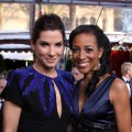 Sandra Bullock with Shaun Robinson at the 16th Annual Screen Actors Guild Awards at the Shrine Auditorium in LA on January 23, 2010