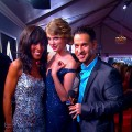 Access' Shaun Robinson, Taylor Swift and The Situation at the 52nd Annual Grammy Awards at Staples Center in LA on January 31, 2010