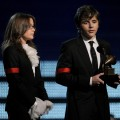 Paris Jackson and Prince Michael Jackson accept the Lifetime Achievement award for Michael Jackson onstage during the 52nd Annual Grammy Awards held at Staples Center on January 31, 2010 in Los Angeles