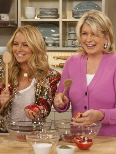 The adorable Becki Newton gets a lesson in how to make Persian Rice with dried cherries from Martha Stewart on 'The Martha Stewart Show,' Jan. 22, 2010