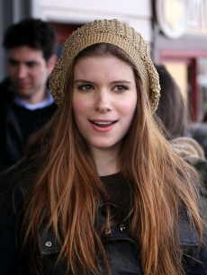 Kate Mara opts for a gold cap to stay warm as she attends the 2010 Sundance Film Festival, Park City, Utah, January 22, 2010