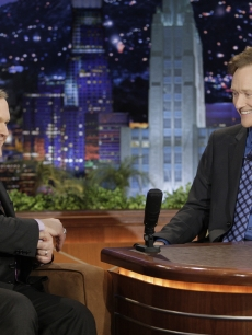 Andy Richter and Conan O'Brien share a moment on Conan's final 'Tonight Show,' Los Angeles, Jan. 22, 2010