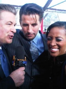 Access' Shaun Robinson with Alec and Billy Baldwin at the 16th Annual Screen Actors Guild Awards held at the Shrine Auditorium on January 23, 2010 in Los Angeles, California