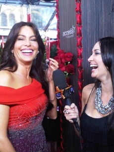 Access Hollywood.com's Laura Saltman chats with Sofia Vergara at the 16th Annual Screen Actors Guild Awards held at the Shrine Auditorium on January 23, 2010 in Los Angeles, California