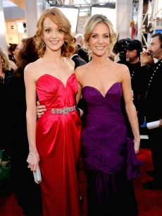 'Glee's' Jayma Mays and Jessalyn Gilsig arrives at the 16th Annual Screen Actors Guild Awards held at the Shrine Auditorium, Los Angeles, January 23, 2010