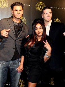 Pauly D, Snooki, and Vinny from MTV&#8217;s &#8216;Jersey Shore&#8217; attend Justin Dior Combs&#8217; 16th birthday party on January 23, 2010