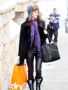 Juliette Lewis shows off her colorful style as she steps out at Sundance, Park City, Utah, Jan. 25, 2010