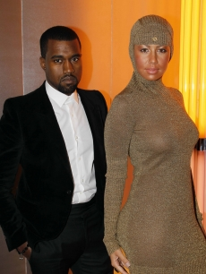 Kanye West and Amber Rose are seen at the Chanel Haute-Couture show as part of the Paris Fashion Week Spring/Summer 2010 at Pavillon Cambon Capucines on January 26, 2010 in Paris, France
