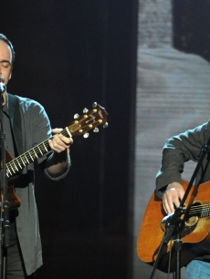Musicians Dave Matthews and Neil Young perform together at the &#8216;Hope for Haiti Now: A Global Benefit for Earthquake Relief&#8217; event in Los Angeles, Calif. on January 22, 2010
