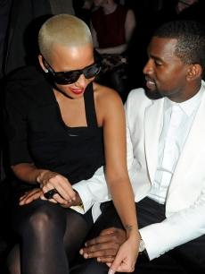 Kanye West and Amber Rose attend the Givenchy Fashion Show during Paris Fashion Week Haute Couture S/S 2010 in Paris, France on January 26, 2010