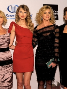 Christina Applegate, Taylor Swift, Faith Hill and Rita Wilson arrive at An Unforgettable Evening Benefiting EIF's Women's Cancer Research Fund at Beverly Wilshire Four Seasons Hotel on January 27, 2010 in Beverly Hills, Calif.