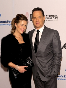 Rita Wilson and husband Tom Hanks arrive at An Unforgettable Evening Benefiting EIF's Women's Cancer Research Fund at Beverly Wilshire Four Seasons Hotel on January 27, 2010 in Beverly Hills, Calif.