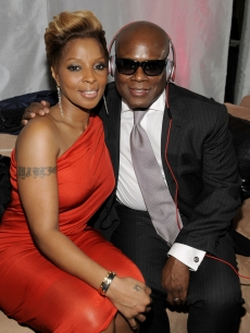 Mary J. Blige and L.A. Reid strike a pose at the ESSENCE Black Women in Music event at the Sunset Tower Hotel, Los Angeles, January 27, 2010