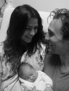 Matthew McConaughey and girlfriend Camila Alves with daughter Vida Alves McConaughey on January 4, 2010