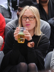 Chloe Sevigny attends the Toronto Raptors vs. New York Knicks game at Madison Square Garden, NYC, January 28, 2010