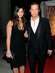 Camila Alves and Matthew McConaughey step out at the 2010 MusiCares Person of the Year Tribute to Neil Young at the LA Convention Center in LA on January 29, 2010