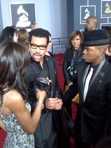 Access Hollywood&#8217;s Shaun Robinson chats with Lionel Richie and Ne-Yo on the red carpet at 52nd Annual Grammy Awards held at Staples Center on January 31, 2010 in Los Angeles, Calif.   