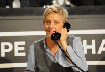 Ellen DeGeneres helps out at the 'Hope for Haiti Now: A Global Benefit for Earthquake Relief' event, Los Angeles, Jan. 22, 2010