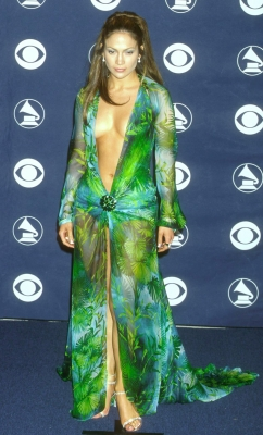 Jennifer Lopez poses backstage at the 42nd Annual Grammy Awards in Los Angeles February 23, 2000