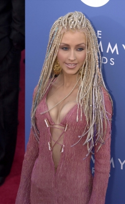 Christinia Aguilera arrives at the 43rd Annual Grammy Awards at Staples Center in Los Angeles, CA on February 21, 2001