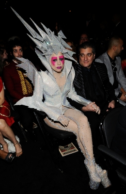 Lady Gaga backstage during the 52nd Annual Grammy Awards held at Staples Center on January 31, 2010 in Los Angeles, California