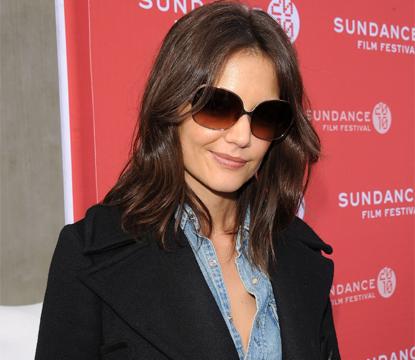 Katie Holmes dons shades as she steps out for &#8216;The Romantics&#8217; premiere during the 2010 Sundance Film Festival at Library Center Theatre, Park City, Utah, January 27, 2010