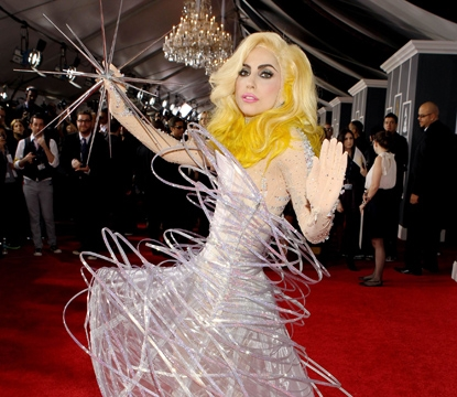 Lady Gaga arrives at the 52nd Annual GRAMMY Awards held at Staples Center on January 31, 2010 in Los Angeles