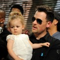 Good Charlotte's Joel Madden and daughter Harlow Madden perform at the 'We Are The World: 25 Years for Haiti' recording session held at Jim Henson Studios in Hollywood, Calif. on February 1, 2010