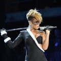 Rihanna performs at Pepsi Super Bowl Fan Jam on February 4, 2010 in Miami Beach, Florida