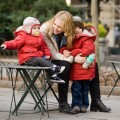 Melissa Joan Hart hangs with her sons in Bryant Park in NYC on January 29, 2010
