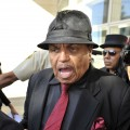 Joe Jackson leaves the courthouse adjacent to Los Angeles International Airport after the arraingment of Dr Conrad Murray on February 8, 2010 in Los Angeles, California