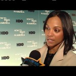 "Zoe Saldana speaks with Access at HBO's 'How To Make It In America"" premiere, February 10, 2010"