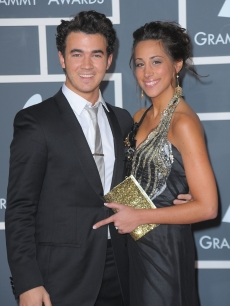 Kevin Jonas and wife Danielle Jonas arrive at the 52nd Annual GRAMMY Awards held at Staples Center on January 31, 2010 in Los Angeles, California