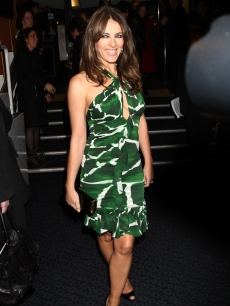 Elizabeth Hurley attends the U.K. premiere for &#8216;A Single Man&#8217; held the at The Curzon Mayfair, London, February 1, 2010