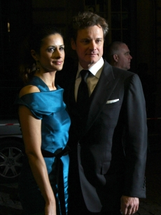 Colin Firth and Livia Giuggioli attend the U.K. premiere for &#8216;A Single Man&#8217; held the at The Curzon Mayfair, London, February 1, 2010