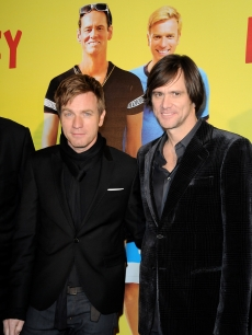 Ewan McGregor and Jim Carrey attend the premiere of &#8216;I Love You Philip Morris&#8217; at Cinematheque Francaise, Paris, February 1, 2010