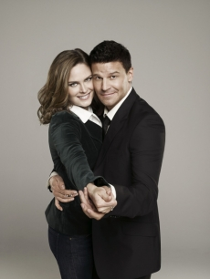 Emily Deschanel and David Borneaz of 'Bones'