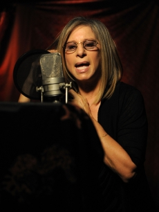 Barbra Streisand performs at the 'We Are The World: 25 Years for Haiti' recording session held at Jim Henson Studios in Hollywood, Calif. on February 1, 2010