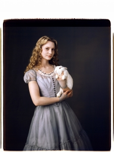 Mia Wasikowska as Alice in a promo shot for Disney's 'Alice In Wonderland'