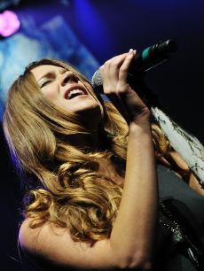 Joss Stone performs live on stage at L'Olympia, Paris, France, February 3, 2010