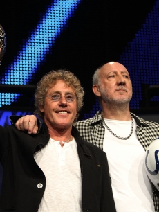 Roger Daltrey and Pete Townshend of The Who talk the Super Bowl, FL, Feb. 4, 2010