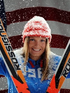 Alpine skiier Julia Mancuso poses for a portrait during the NBC/USOC Promotional Photo Shoot on May 13, 2009 at Smashbox Studios in Los Angeles, California.