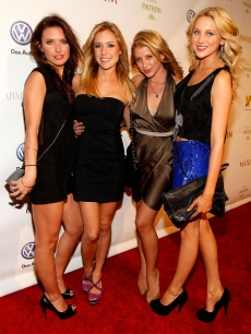 'The Hills' stars Audrina Patridge, Kristin Cavallari, Lo Bosworth and Stephanie Pratt attend the 2010 Maxim Super Bowl Party at The Raleigh on February 6, 2010 in Miami, Florida