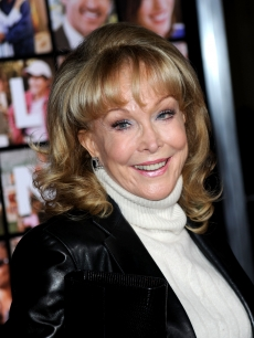 Barbara Eden smiles at the premiere of 'Valentine's Day' held at Grauman's Chinese Theatre, Los Angeles, February 8, 2010