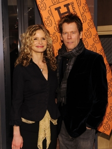 Kyra Sedgwick and Kevin Bacon attend the opening of the first Hermes Men's Store on Madison Avenue, NYC, February 9, 2010