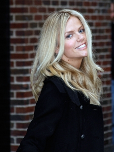 Sports Illustrated cover girl Brooklyn Decker visits the 'Late Show With David Letterman' at the Ed Sullivan Theater, NYC, February 9, 2010