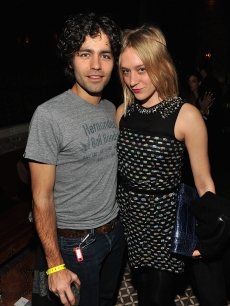 Adrian Grenier and actress Chloe Sevigny attend the 'How to Make it in America' screening after party hosted by the Cinema Society and HBO at The Bowery Hotel, NYC, February 9, 2010