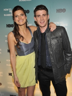 Lake Bell and Bryan Greenberg attend the Cinema Society and HBO screening of 'How to Make it in America' at Landmark's Sunshine Cinema, NYC, February 9, 2010
