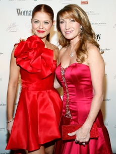 'Dancing' pro Anna Trebunskaya and former 'DWTS' contender Jane Seymour pose together at the 7th annual Woman's Day Red Dress Awards at Lincoln Center, NYC, February 10, 2010